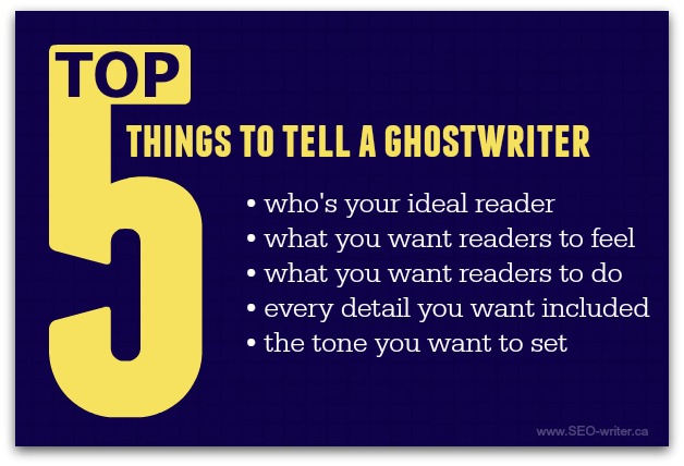 What to tell your ghostwriter