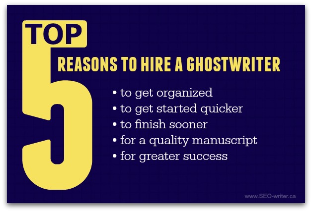 Why hire a ghostwriter