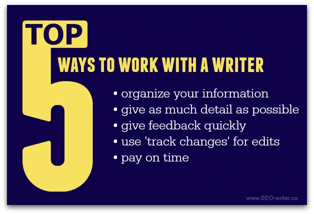 How to work with a writer