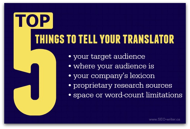 What to tell your translator