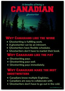 the benefits of being a Canadian ghostwriter